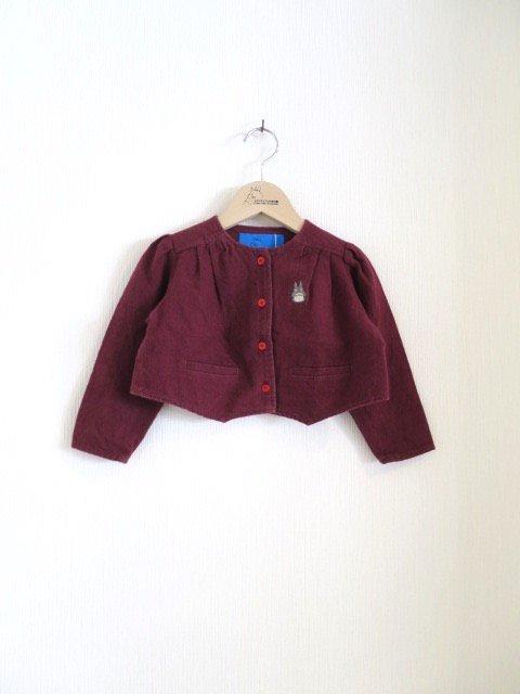 トトロ手刺繍ジャケット (1点もの/サイズ80)