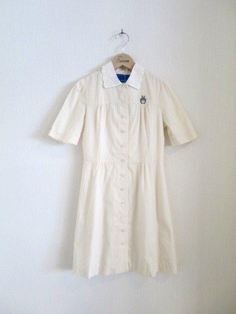 トトロ手刺繍ワンピース (1点もの/サイズ130)
