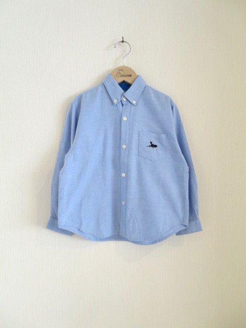 キキ手刺繍シャツ (1点もの/サイズ140)