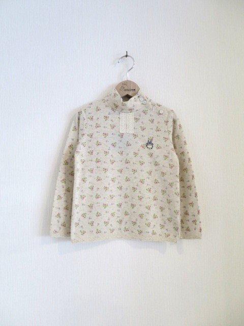 トトロ手刺繍カットソー (1点もの/サイズ120)