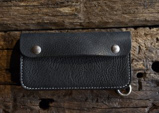 BIKER WALLET MINERVA BOX (NAVY)