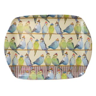<br>Emma Ball 【EBMMD71】<br>Medium Tray トレイ<br>Budgies in Beanies