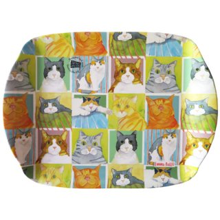 <b>オックスフォードタイム別注品</b><br>Emma Ball 【EBMMD64】<br>Medium Tray トレイ<br>BRITISH CAT LIFE