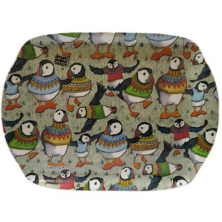 <br>Emma Ball 【EBMMD69】<br>Medium Tray トレイ<br>Woolly Puffins