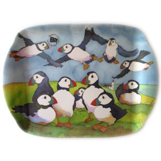<br>Emma Ball 【EBMMD59】<br>Medium Tray トレイ<br>Playful Puffins