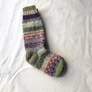 手編みの靴下 (o)