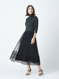 <img class='new_mark_img1' src='https://img.shop-pro.jp/img/new/icons61.gif' style='border:none;display:inline;margin:0px;padding:0px;width:auto;' />20%OFF ORIVAR SAT レース切替チュールスカート