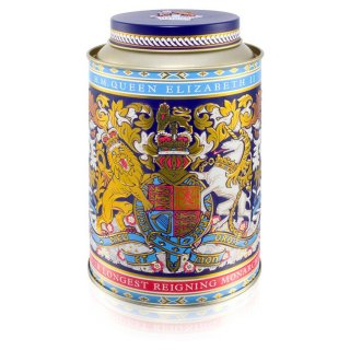 エリザベス女王II 在位最長記録更新記念缶 ロイヤルブレンドティー缶