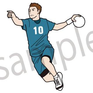 ハンドボール イラスト(スポーツ、シュート、ジャンプシュート)