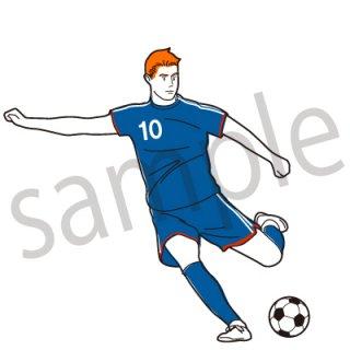 サッカー イラスト(シュート、ゴール、サッカーボール、オフェンス)