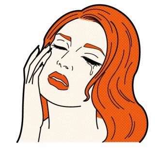 泣く女性(アメコミ、ポップ、リアクション、)