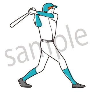 野球 バッター イラスト(スポーツ、ボール、ヒット、ホームラン、バッティング)