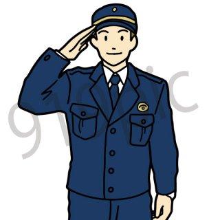 警察官 イラスト(おまわりさん、仕事、交番)