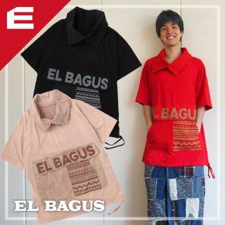 EL BAGUS BIGポッケ立ち襟Tシャツ