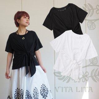 VITA LITA(ヴィータリータ) 前結びTシャツ
