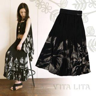 VITA LITA(ヴィータリータ) ようりゅう染めロングスカート