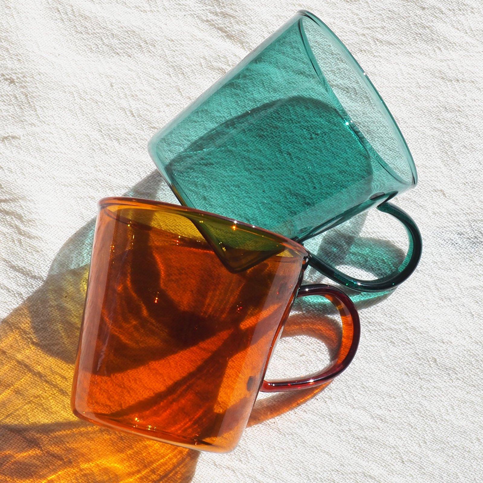 カラーリング 耐熱ガラスマグ