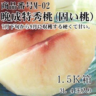 晩成 特秀桃(かたい桃)甘い品種で選んだ厳選桃 3L-4L  5玉 2K箱ギフト