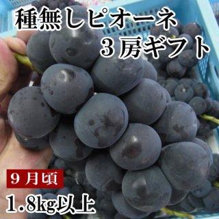 【クール便】ピオーネ3房(約1.8�)ギフト