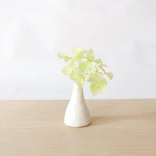 美濃焼 陶器 ドライフラワーベース「三角・白」