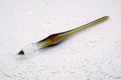 ガラス工房aun ガラスペン うつろい秋 A(長さ約15cm)