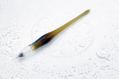 ガラス工房aun ガラスペン うつろい秋 C(長さ約14.5cm)