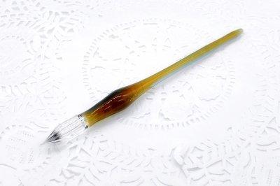 ガラス工房aun ガラスペン うつろい秋 D(長さ約15.5cm)