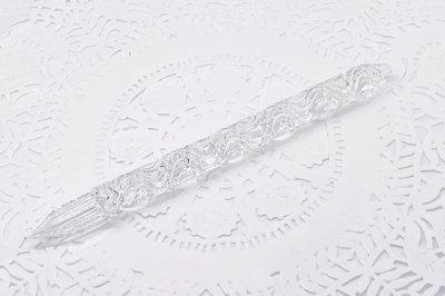 ガラス工房aun ガラスペン 流水紋 A(約15.5cm)