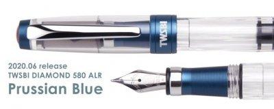 【再入荷 7/27以降出荷】TWSBI DIAMOND 580 ALR Prussian Blue(プルシアンブルー)