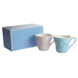 ウェッジウッド (WEDGWOOD) フェスティビティ ブルー&ピンク マグカップ 350ml ペアセット【ブランドBOX付き】