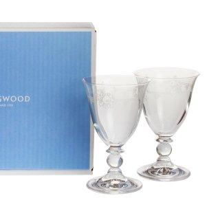 ウェッジウッド (WEDGWOOD) フェスティビティ クリスタル ワイン ペア