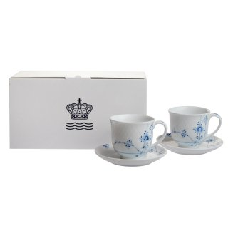 ロイヤルコペンハーゲン ブルーパルメッテ カップ&ソーサー ペア 160ml 2-500-030<br>【Spring*Sale】