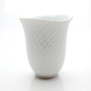 マイセン (Meissen) 波の戯れホワイト ビーカーマグカップ 55404