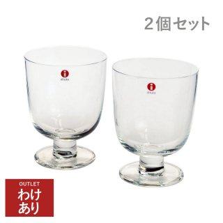 【アウトレット商品】イッタラ (iittala) レンピ LEMPI グラス 0.35L クリア 2客セット【包装/返品交換不可】