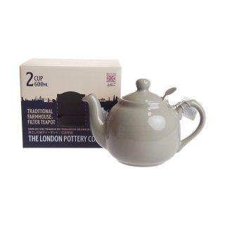 ロンドンポタリー (London Pottery) ファームハウス ティーポット グレー 2cup