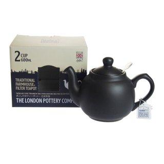 ロンドンポタリー (London Pottery) ファームハウス ティーポット マットブラック 2cup