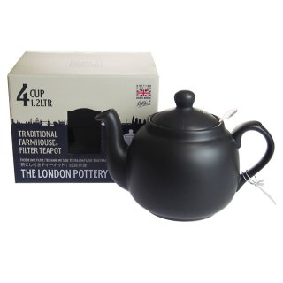ロンドンポタリー (London Pottery) ファームハウス ティーポット マットブラック 4cup