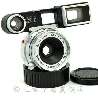 Leica Summaron 3.5cm f3.5(M) メガネ付き