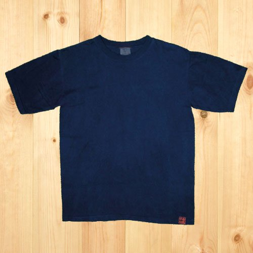 藍染め無地Tシャツ