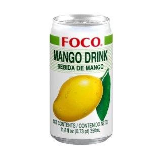 FOCO マンゴージュース 350ml缶 ケース販売(24本入)