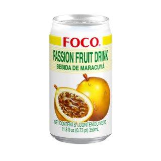 FOCO パッションフルーツジュース 350ml缶 ケース販売(24本入)
