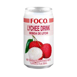FOCO ライチジュース 350ml缶 ケース販売(24本入)