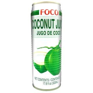 FOCO ココナッツジュース 520ml缶 ケース販売(24本入)