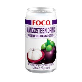 FOCO マンゴスチンジュース 350ml缶 ケース販売(24本入)