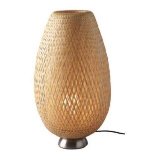IKEA イケア テーブルランプ ニッケルメッキ 籐 竹 z20156161 BOJA