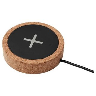 IKEA イケア ワイヤレス充電器 ブラック コルク n00442593 NORDMARKE