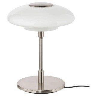 IKEA イケア テーブルランプ ニッケルメッキ オパールホワイト ガラス n70471997 TALLBYN