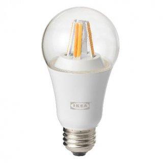 IKEA イケア LED電球 E26 806ルーメン ワイヤレス調光 ホワイトスペクトラム クリア n90408472 TRADFRI
