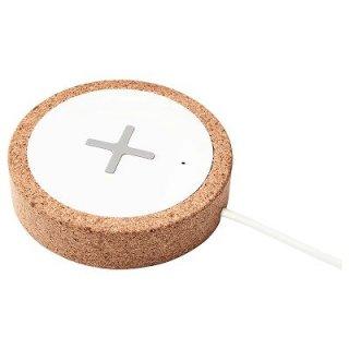 IKEA イケア ワイヤレス充電器 ホワイト コルク n90442579 NORDMARKE