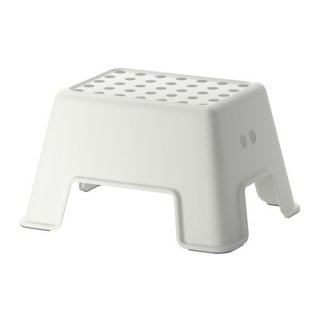 IKEA イケア ステップスツール ホワイト a40265164 BOLMEN